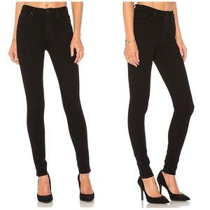 New Hudson Barbara Super Skinny Black Jeans Black